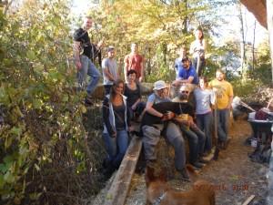 The Compost Volunteer Gang Saturday October 11, 2014.