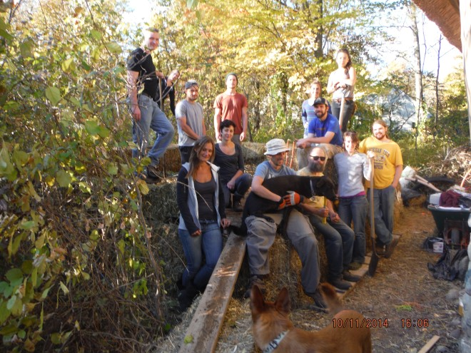 The Compost Volunteer Gang Saturday October 11, 2014.