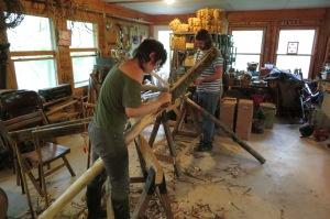 Round Pole Trellis construction. Ruthie & Justin