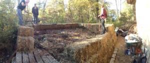 Compost Furnace construction photo by Derek Kanwischer