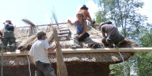 Thatching the Retreat Cabin 2014