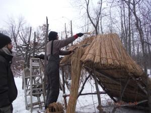 Ridge on the new Wood Shelter