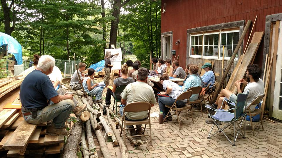 Class at the Natural Cottage Project, Burton Ohio 2015