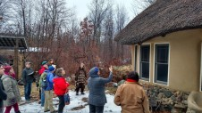 Making observations on Strawbale Studio's Thatched roof
