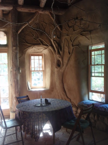 strawbale studio tree sculpture