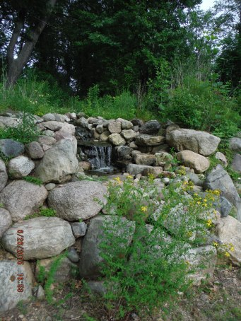 Waterfall at Strawbale Studio